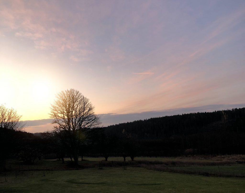 Vacker morgonhimmel